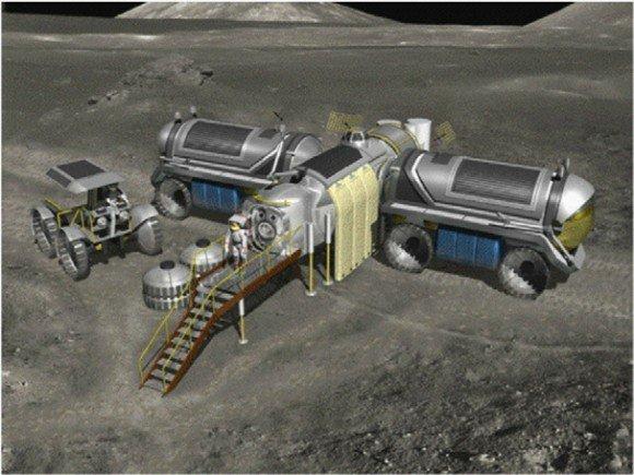 Лунная база, концепции марсохода - могут быть использованы для долгосрочных миссий (NASA)