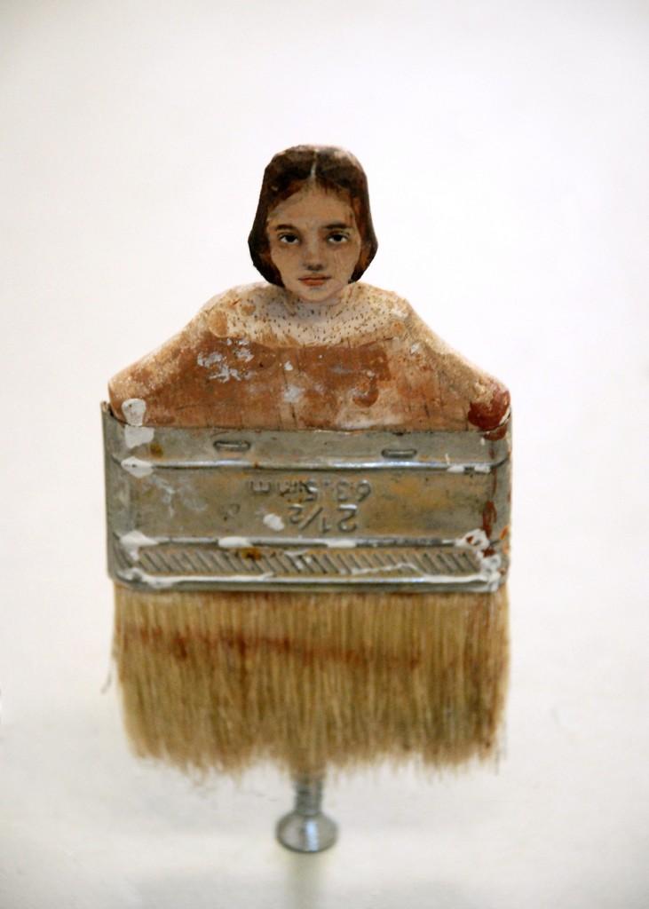 """""""2 1/2"""" (2010). Маслона вырезанной кисти."""