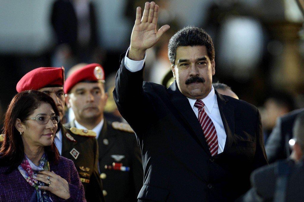 Венесуэльский президент Николас Мадуро рядом с первой леди Силия Флорес.Фото: Getty Images
