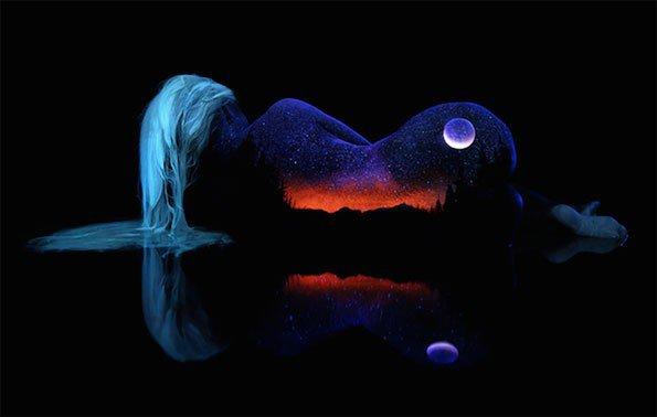 body-paint-art-black-light-12