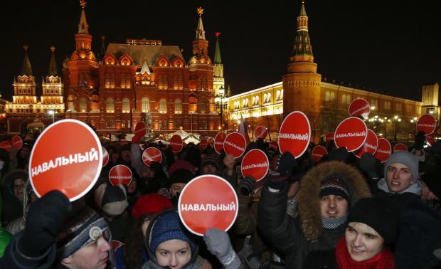 Крупнейшие критики Путина объявляют о 100,000-ом 'российском весеннем' протесте