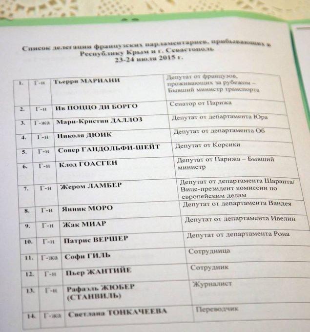Список предателей