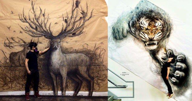 Фрески животных как прыжок из настенной галереи