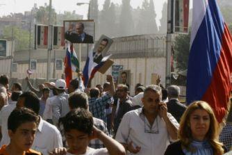 Ракеты попали в российское посольство в Дамаске