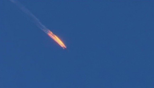 Сбитый самолет над Турцией