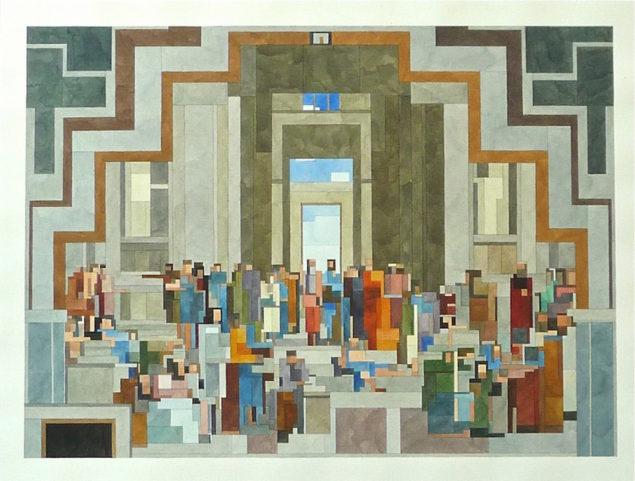 Афінська школа, зображення з виставки Білі Стіни Сан-Франциско
