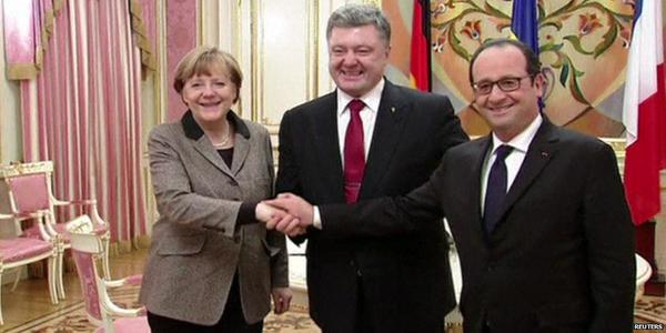Poroshenko-Merkel-Olland