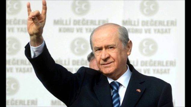 Devlet Bahceli, the nationalist MHP leader