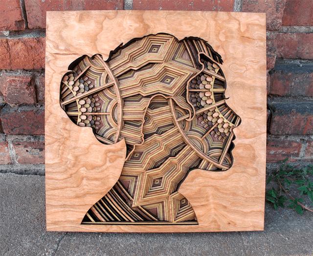 Нові вирізані лазером рельєфні скульптури Габріеля Шема
