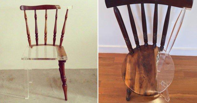 Новий старий стілець: художник «виправляє» зломані дерев'яні меблі анти-матеріалами