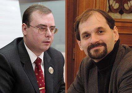 Андрій Мєльков і товариш РПЦ Юрій Чорноморець