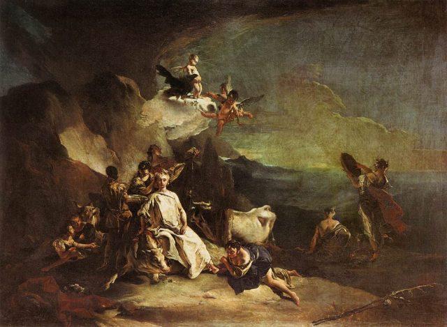 Джованні Баттіста Тьєполо (близько 1725). «Викрадення Європи», яке сьогодні намагається повторити нахабнючий кремлівський бичара.