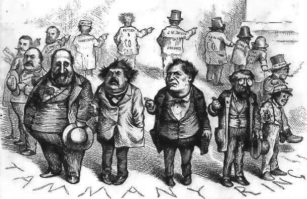 карикатура (1871) Томаса Наста