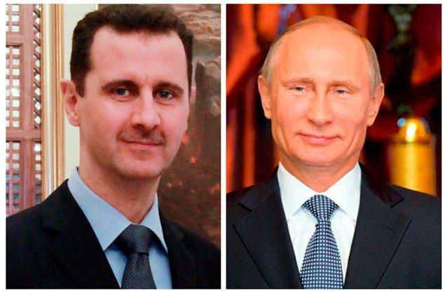 Башар Асад і Путін