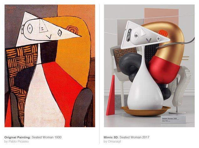 Картини Пікассо як сучасні цифрові скульптури