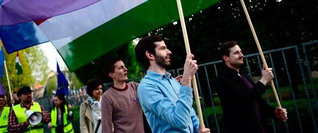 «Мы принадлежим Европе» в центре Будапешта