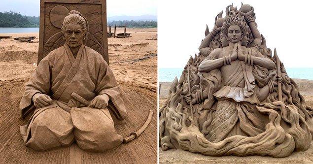 Неймовірні піщані скульптури Тошихіко Хосака