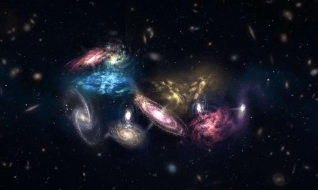 Астрономи стали очевидцями мегазлиття галактики