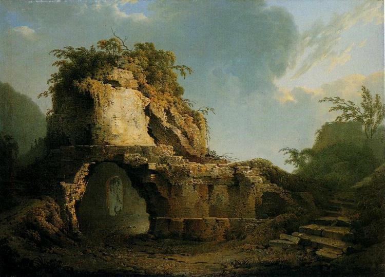 Джозеф Райт (1785). «Могила Вергілія».