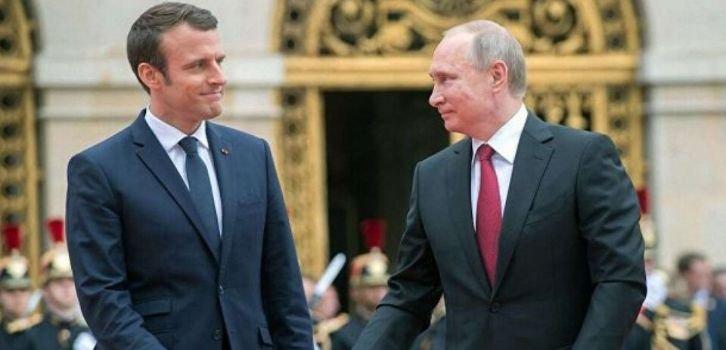 Макрон обвинил Путина в попытках переписать историю Второй мировой