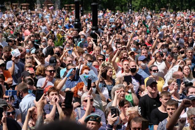 Москва, уходи! По Хабаровску прокатилась 40-тысячная акция протеста