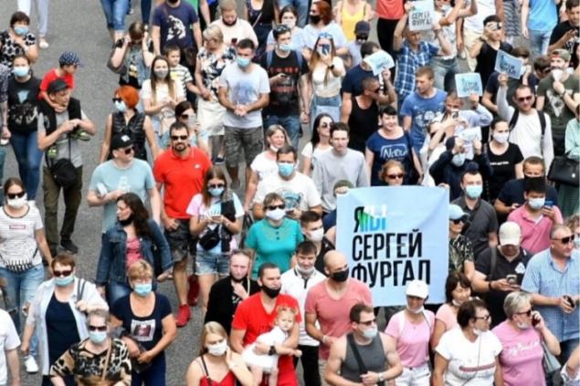 В Хабаровске начались задержания на акциях протеста