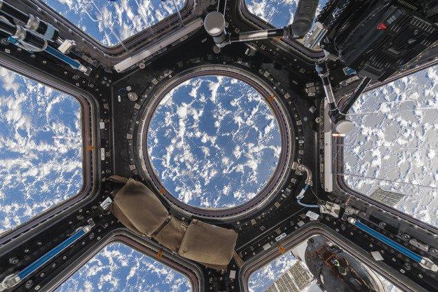 Купол с облаками и океаном, Международная космическая станция