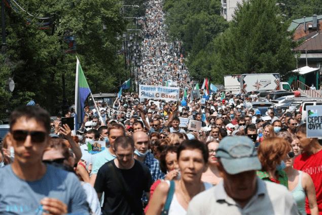 Хабаровчане седьмую субботу подряд вышли на митинг за Фургала