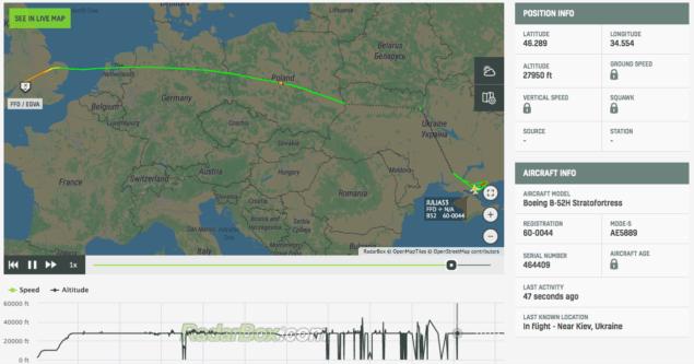 К админгранице с Крымом прилетели два стратегических бомбардировщика США