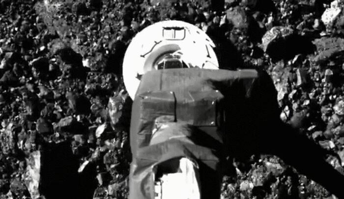 Дивіться, як OSIRIS-REx бере зразки поверхні астероїда Бенну