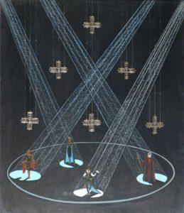 Сценографія шекспірівського «Гамлета» грузинського художника Димитрія Тавадзе.