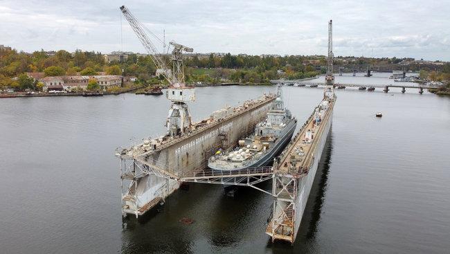 В Николаеве завершен ремонт десантного корабля «Юрий Олефиренко»