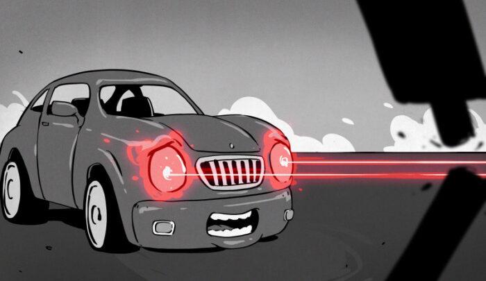 Как работают лазерные фары