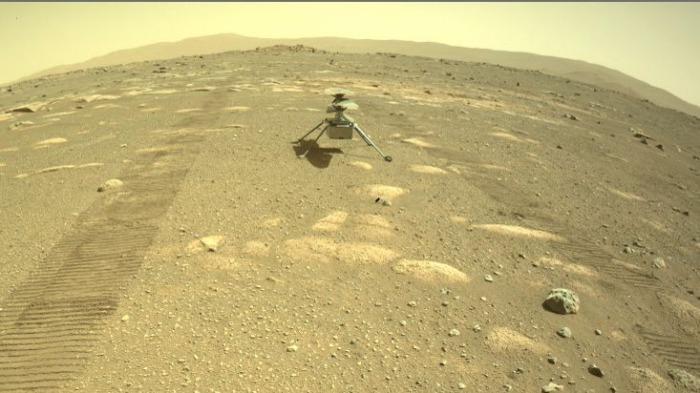 Марсианский вертолет НАСА Ingenuity приземлился на Красной планете
