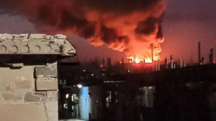 Сгорів склад бойовиків в окупованому Донецьку