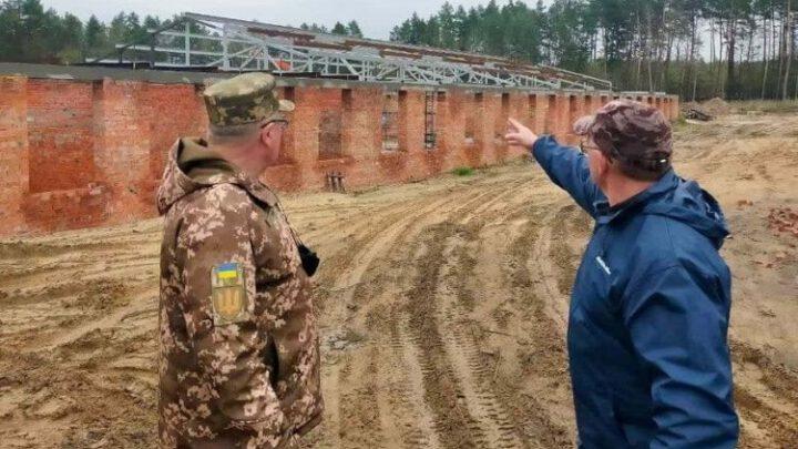 У Старичах будують нові об'єкти для підготовки підрозділів ЗСУ