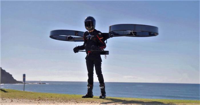 Пілотований дрон, ранцевий гелікоптер, електричний реактивний ранець? Що таке CopterPack? [Відео]