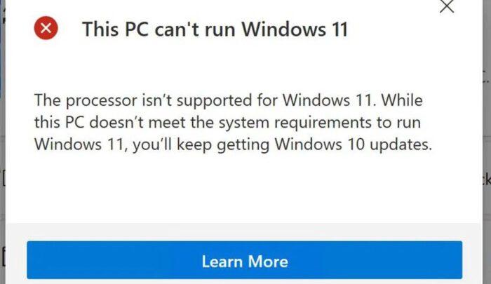Приложение Microsoft сообщит, почему ваш компьютер не готов к работе с Windows 11